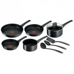 TEFAL C6969002 Chef Batterie de cuisine 9 pieces - Noir - In