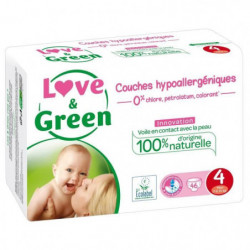 LOVE AND GREEN Couches ecolabellisées Taille 4 - 46 couches