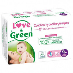 LOVE AND GREEN Couches ecolabellisées Taille 4+ - 42 couches