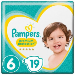 PAMPERS Premium Protection Taille 6 15+ kg - 19 Couches
