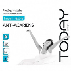 TODAY Protege Matelas / Alese Imperméable Anti-Acariens 160x