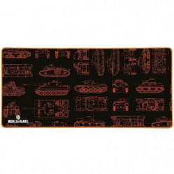 Tapis De Souris Gamer Konix  World Of Tanks MP-25 XXL