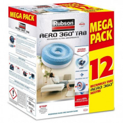 RUBSON PROMO MEGA PACK Lot de 12 recharge Aero 360 Neutre