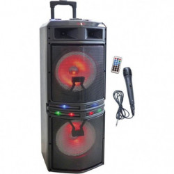 INOVALLEY MS02XXL Enceinte Karaoke Trolley - Bluetooth -1000W