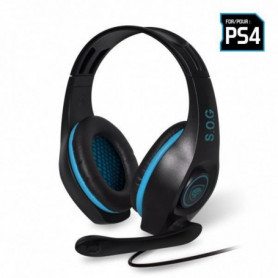 SPIRIT OF GAMER Micro-Casque Gamer PRO-SH5 - Noir et Bleu - PS4