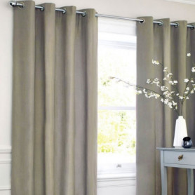Rideau coton LOOK - Taupe - 140x250 cm