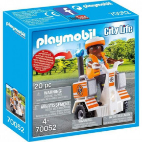 PLAYMOBIL 70052 - Secouriste et gyropode