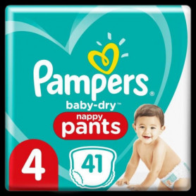Pampers Baby-Dry Pants Couches-Culottes Taille4, 41Culottes