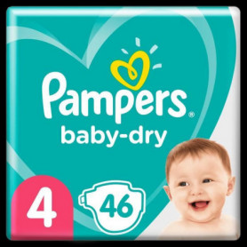 Pampers Baby-Dry Taille4, 46Couches