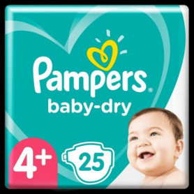Pampers Baby-Dry Taille4+, 25Couches