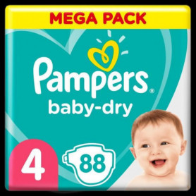 Pampers Baby-Dry Taille4, 88Couches