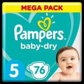 Pampers Baby-Dry Taille5, 76Couches