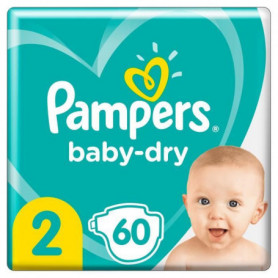 Pampers Baby-Dry Taille2, 60Couches