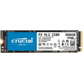 CRUCIAL P2 SSD 500 Go 3D NAND NVMe PCIe M.2 2280SS (CT500P2SSD8)