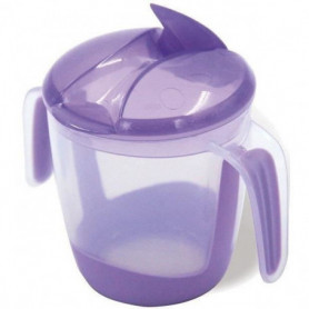 MILL'O BÉBÉ Tasse d'apprentissage à bec repliable - Violet - 22 cl