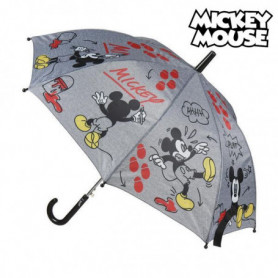 Parapluie Automatique Mickey Mouse Disney Gris (ø 45 cm)