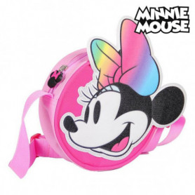 Sac à Bandoulière 3D Minnie Mouse 72883 Rose