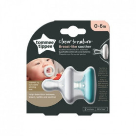 TOMMEE TIPPEE Sucette CTN - Forme Naturelle x2 0-6 mois