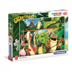 CLEMENTONI - 26996 - SuperColor 60 pieces - Gigantosaurus