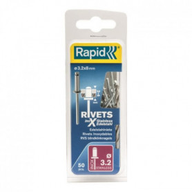 RAPID Rivets inoxydables 3,2x8mm