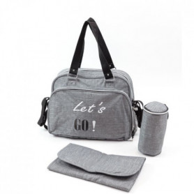BABY ON BOARD Sac a langer SIMPLY Lets'Go - gris