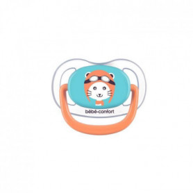 BEBE CONFORT 2 Sucettes Physio Air Confort  Silicone 0/6 - Bleu & Orange - The T