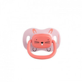 BEBE CONFORT 2 Sucettes Reversible Silicone 6/18 -  Rose - Minimalist Animals