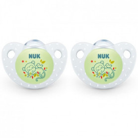 NUK 2 Sucettes SERENITY+ Silicone 0-6m Phospho