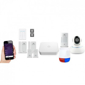 NEW DEAL Pack Alarme maison LAN / WIFI / GSM Live 13364