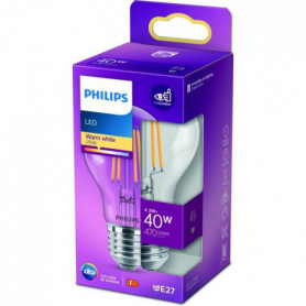 PHILIPS LED Classic 40W Standard E27 Blanc Chaud Non Dimmable