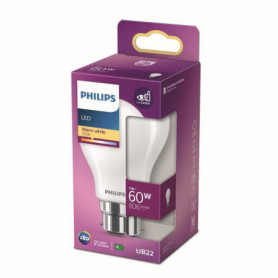Philips ampoule LED Equivalent 60W B22 Blanc chaud non dimmable. verre