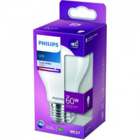 Philips Ampoule LED Equivalent 60W E27 Blanc froid Non Dimmable