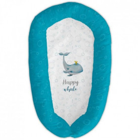 TANUKI Coussin couffin multifonctionnel HAPPY WHALE